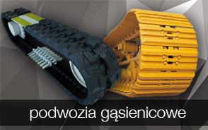 Podwozia - gąsienice stalowe i gumowe